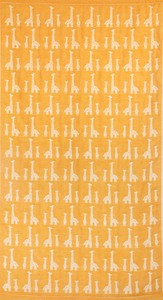 Made in Japan Gauze Elephant Fan Bathing Towel Yellow Giraffe