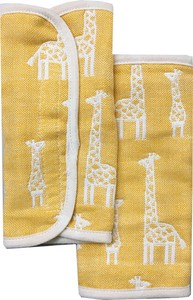Gauze Elephant Fan Belt Cover 2Pcs set Yellow