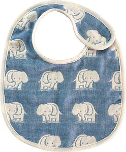 Gauze Elephant Fan Bib Blue