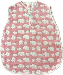 Gauze Elephant Fan Sleeper Pink