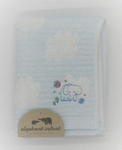 Elephant Fan China Spoon Gauze Towel Face Towel Blue