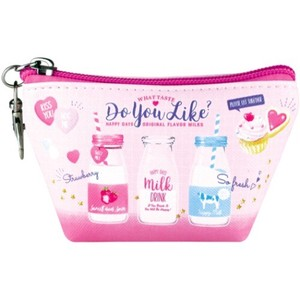Coin Purse Triangle Mini Pouch Milk