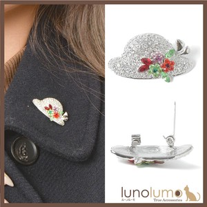 Brooch Ladies Hats & Cap Hat Flower Flower Ladies Metal Glitter Silver