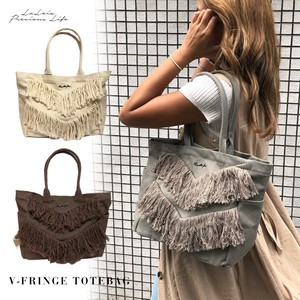 Out Pocket Fringe Tote