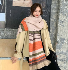 Scarf Poncho Ladies Tassel Thick Switch Border