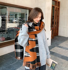 Scarf Poncho Ladies A/W Thick Student