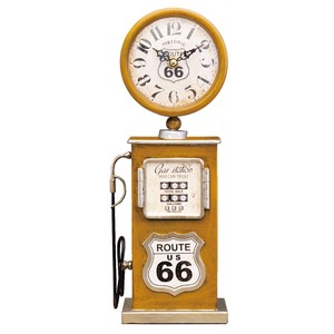 Table Clock Gas Pump YELLOW
