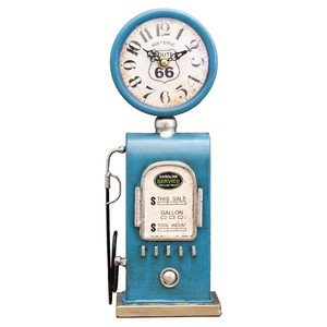 Table Clock Gas Pump BLUE