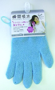 Moment Water Absorption Dry Glove Blue