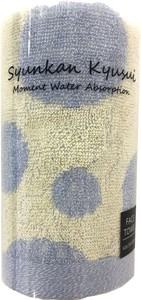 Moment Water Absorption Dot Face Towel Blue