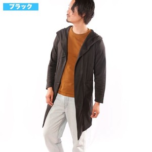 [2019NewItem] Raised Back Food Long Plain Long Cardigan Robe