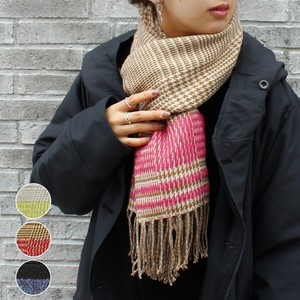 Line Checkered Stole A/W