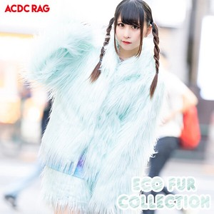Eco Fur Coat Blue Coat Fairy tale Yumekawa Korea Fake Fur A/W