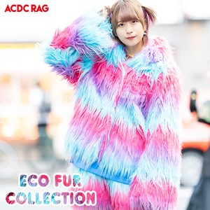 Eco Fur Coat Neon Coat Fairy tale Yumekawa Korea Fake Fur A/W