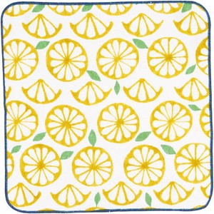 Towel Handkerchief Flower Orange