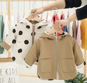 Children's Clothing Outerwear Reversible Jacket Hoody Dot Kids