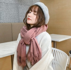 Scarf Poncho Ladies A/W Plain Thick Student