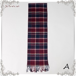 Petit Checkered Stole Gigging Material Inner Active