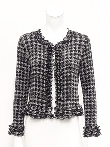 Pleats Frill Non-colored Jacket