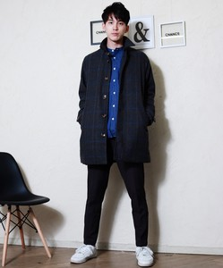 Wool Stand-fall Collar Coat Color Coat