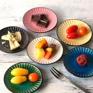 小皿 豆皿 醤油皿 薬味皿 おしゃれ お皿 食器 陶器 美濃焼き 可愛い しのぎ彫り 6color 小皿 9.6cm 日本製