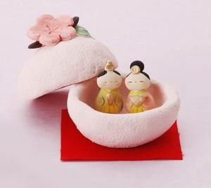 ★ひな祭り★「置物とインテリア」雛人形 【雛 蓋物飾り】