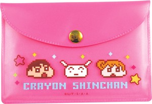 Crayon Shin Chan Pouch Sticky Note Face