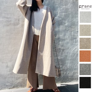 Outerwear [2019NewItem] Fake Wool Color Robe Coat
