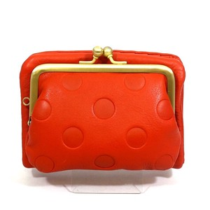 UN SIGNET Leather Dot Coin Purse Wallet
