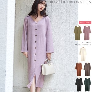 A/W Rib knit sew One-piece Dress