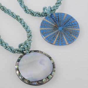 Shell Necklace blue Bali