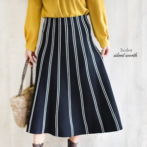 A/W Stripe Knitted Skirt