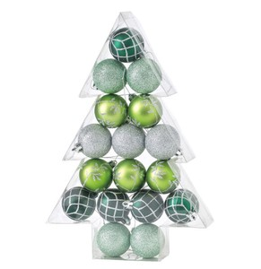 Christmas Party Ornament Ball 17 Pcs Set Green