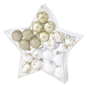 Christmas Party Ornament Ball 20 Pcs Set Gold