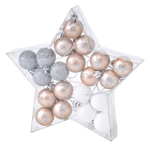Christmas Party Ornament Ball 20 Pcs Set Pink