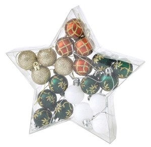 Christmas Party Ornament Ball 20 Pcs Set Red Green