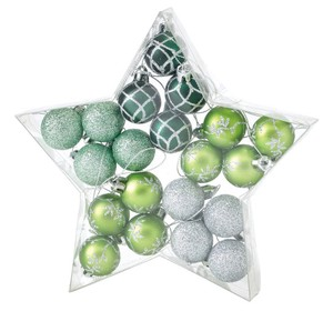 Christmas Party Ornament Ball 20 Pcs Set Green