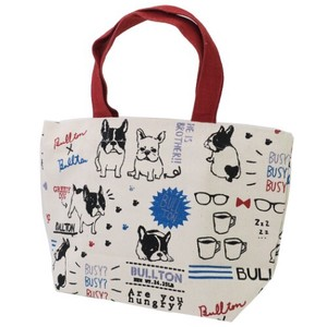 Lunch Tote French Bulldog Dog Canvas Tote Ivory