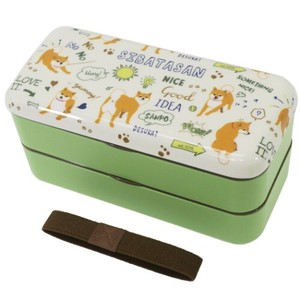 Bento (Lunch Boxes) Sticker Food Container Shibata Chopstick Attached 2 Steps Lunch Box
