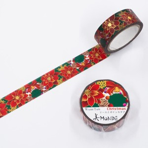 Washi Tape Wreath Poinsettia