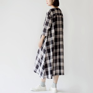 S/S Checkered One-piece Dress