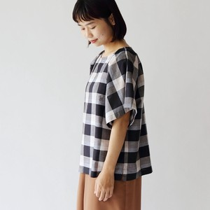 S/S Checkered Square Blouse