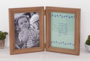 Wooden Double Photo Frame