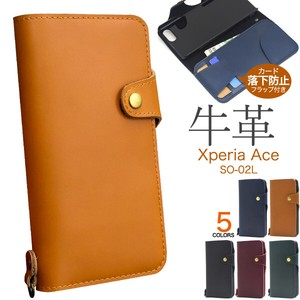 Fine Quality Smooth Cow Leather Use Xperia SO Cow Leather Notebook Type Case