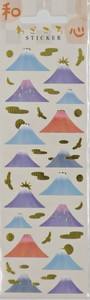 Japanese Pattern Japanese Paper Type Gold Leaf Sticker Mt. Fuji New Year