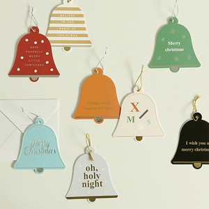 Christmas Objects and Ornaments Ornament Card Christmas Bell Card