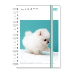 Photo Series Attached Hard Cover Ring Notebook Puppy Pomeranian