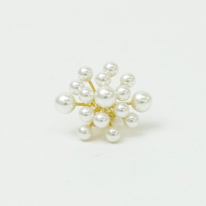 Point Reduction S/S Brooch Pearl