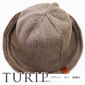A/W Hats & Cap Knitted Hat Synthetic Leather Patch Tulip Ladies Knitted Cap Plain