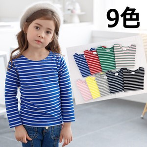8 Colors Border Long Sleeve T-shirt Kids Children's Clothing